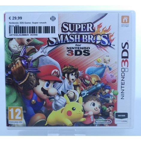 Nintendo 3DS Game: Super smash Bros 3DS