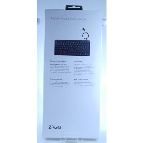 ZAGG Wired keyboard met USB A voor windows | Nieuw