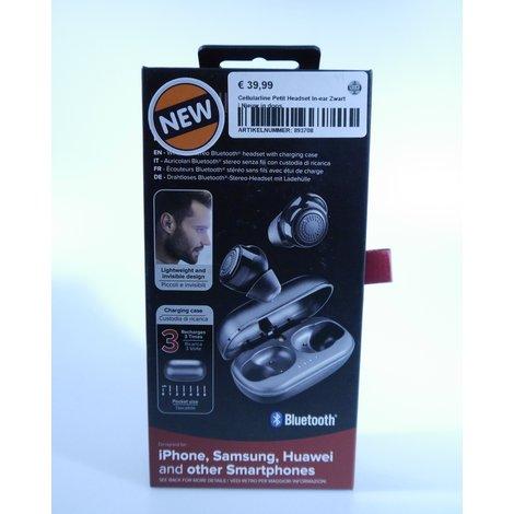 Cellularline Petit Headset In-ear Zwart | Nieuw in doos