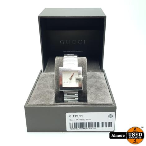 Gucci YA108502 Zilver | Gebruikte staat met garantie