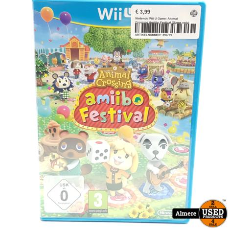 Nintendo Wii U Game: Animal Crossing Amiibo Festival (Game only)