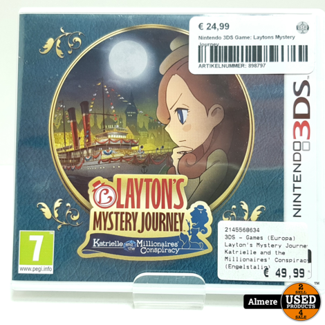 Nintendo 3DS Game: Laytons Mystery Journey