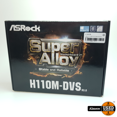 ASRock H110M-DVS R3 Moederbord   Nieuw