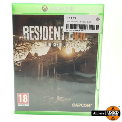 Xbox one Game: Resident Evil 7