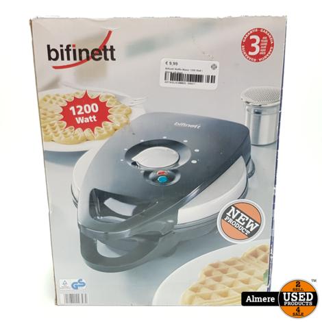 Bifinett Waffle Maker 1200 Watt   Nieuw uit doos