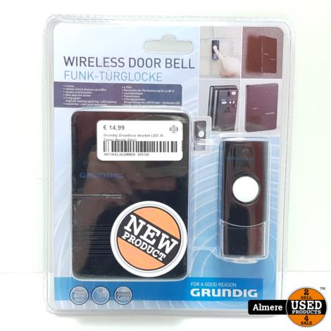 Grundig Draadloze deurbel LED 36 Tunes Bereik 80m2 | Nieuw