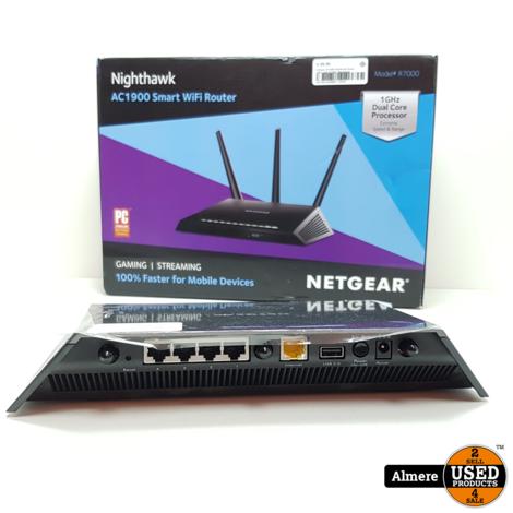 Netgear AC1900 Nighthawk Smart Wifi-router R7000   Nieuwstaat