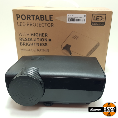 LED Source Portable LED Projector in doos | Nette staat
