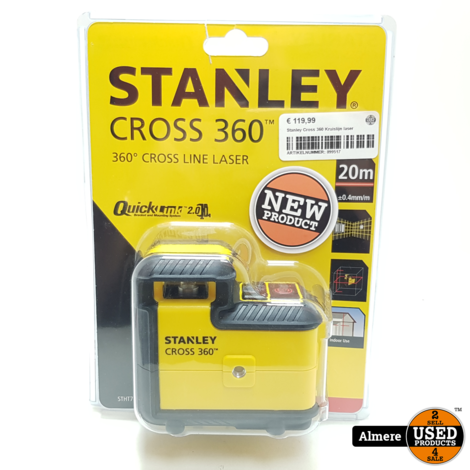 Stanley Cross 360 Kruislijn laser   Nieuw in verpakking