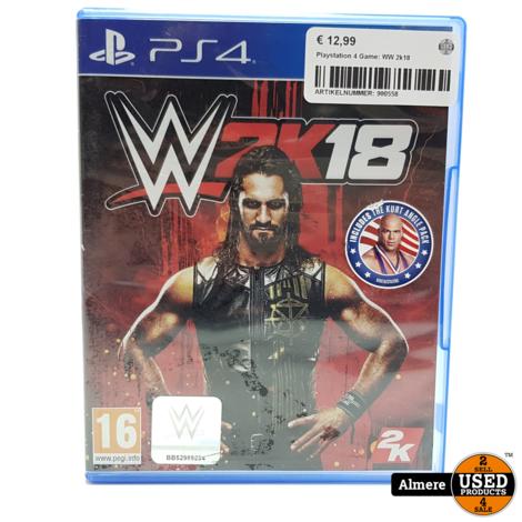 Playstation 4 Game: WW 2k18