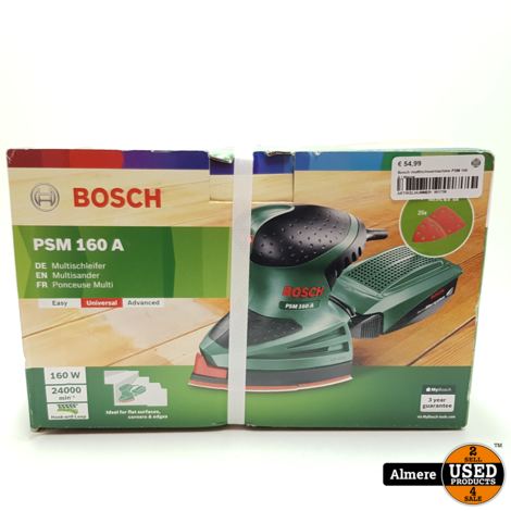 Bosch multischuurmachine PSM 160 A | Nieuw