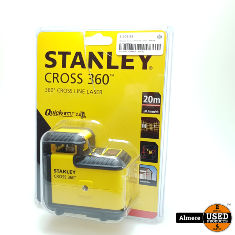 Stanley Cross 360 Line Laser   Nieuw in verpakking
