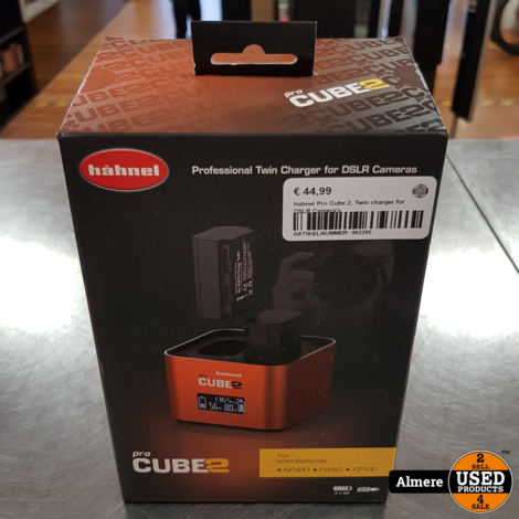 Hahnel Pro Cube 2, Twin charger for DSLR Camera's