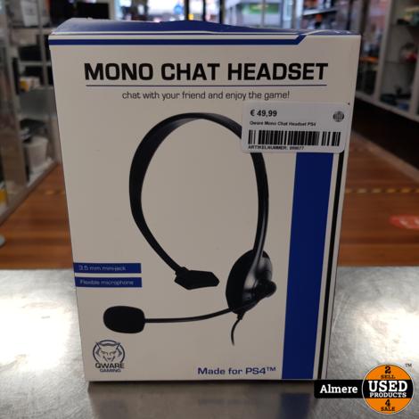 Qware Mono Chat Headset PS4   Nieuw