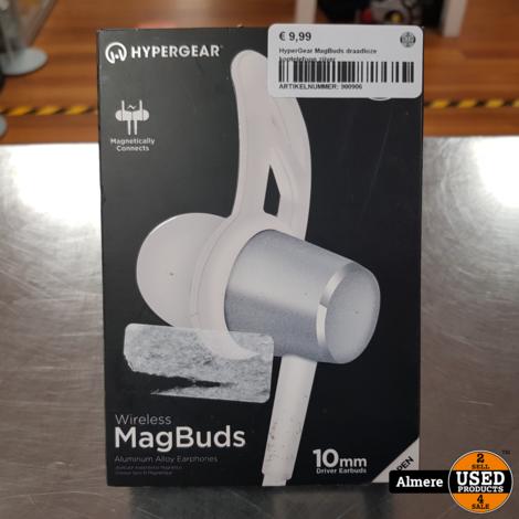 HyperGear MagBuds draadloze koptelefoon zilver