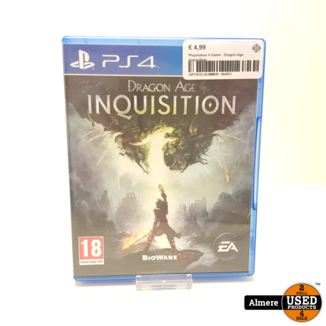 Playstation 4 Game : Dragon Age Inquisition