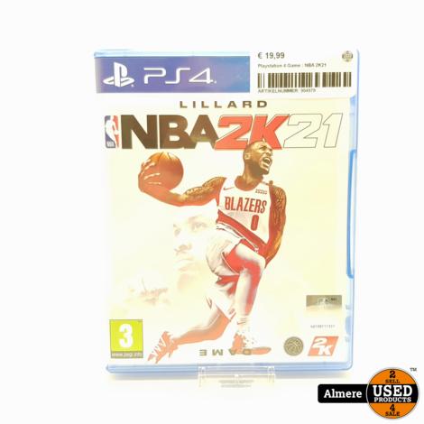 Playstation 4 Game : NBA 2K21
