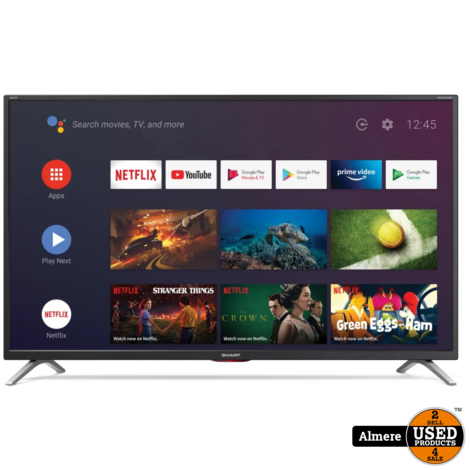 Sharp Aquos 43BL5EA 43 Inch 4K Ultra HD LED HDR Android Smart TV   NIEUW