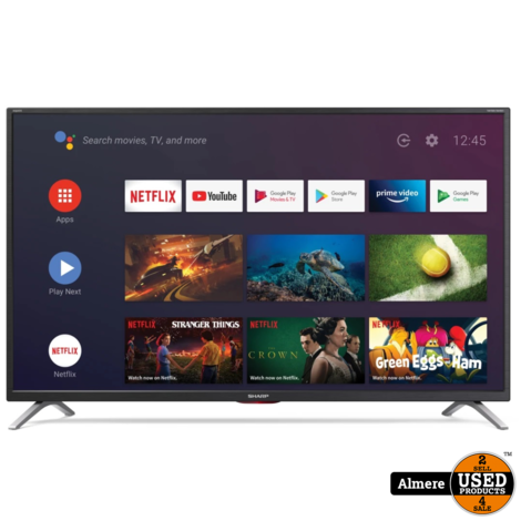 Sharp Aquos 43BL5EA 43 Inch 4K Ultra HD LED HDR Android Smart TV | NIEUW