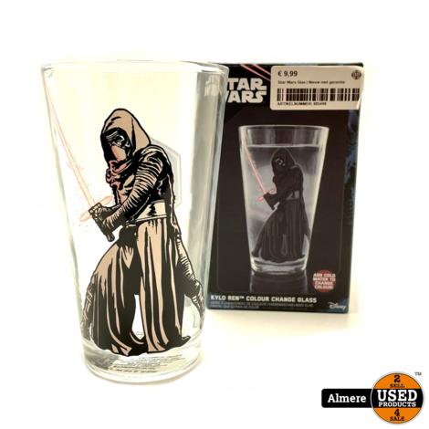 Star Wars Kylo Ren Colour Change Glass 450ml   Nieuw in doos