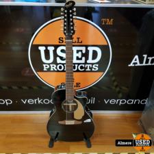 Fender Fender Villager 12 snarige Gitaar Semi acoustic Black