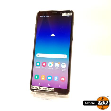Samsung Galaxy A8 2018 Zwart   Nette staat