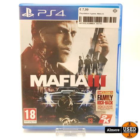 Playstation 4 game: Mafia III