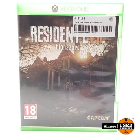 Xbox One Game: Resident Evil Biohazard