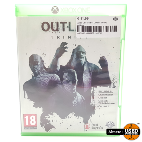 Xbox One Game: Outlast Trinity edition