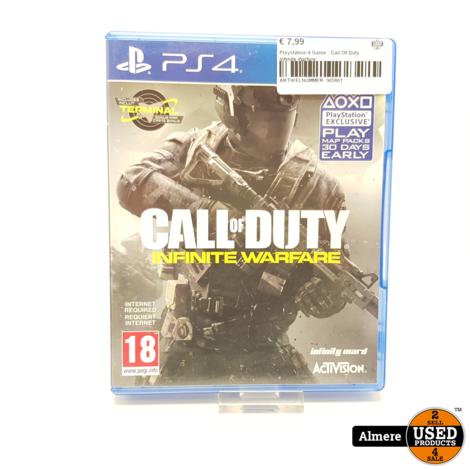 Playstation 4 Game : Call Of Duty Infinite Warfare