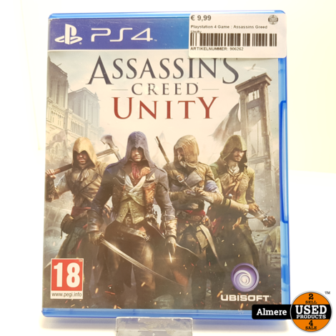 Playstation 4 Game: Assassins Greed Unity