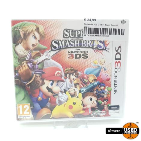 Nintendo 3DS Game: Super Smash Bros