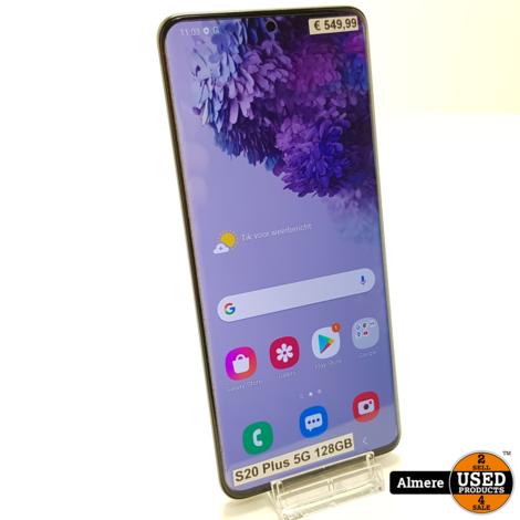 Samsung Galaxy S20 Plus 5G 128GB   Nieuwstaat