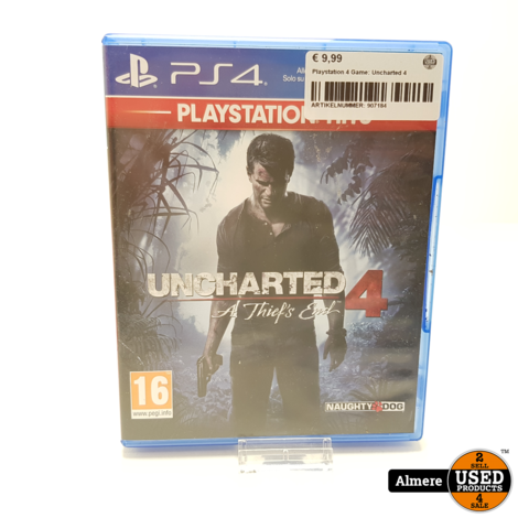 Playstation 4 Game: Uncharted 4