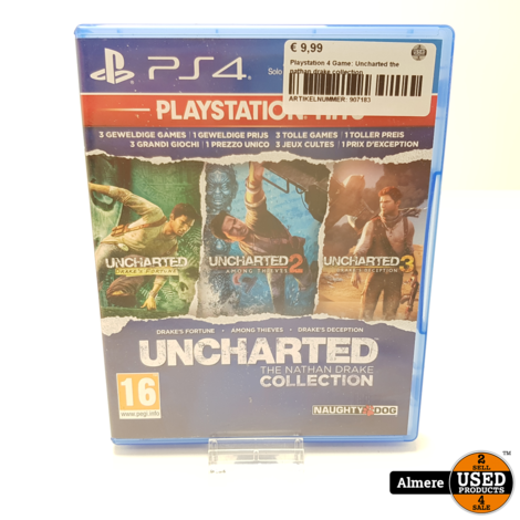 Playstation 4 Game: Uncharted the nathan drake collection