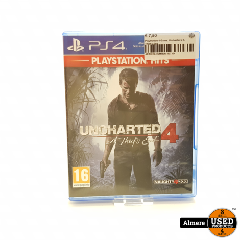 Playstation 4 Game: Uncharted 4 A Thief's End
