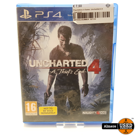 Playstation 4 Game: Uncharted 4 A Thief End