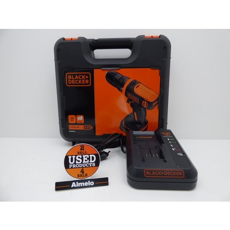 Black + Decker 1.5Ah 10.8V Accuboormachine  BDCDD12K1