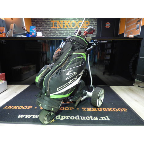 caddy 1 golf trolley elektrisch met cobra golf set