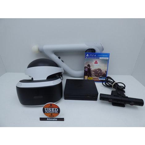 Sony Playstation VR V2 met Playstation VR Aim Controller en de game Farpoint
