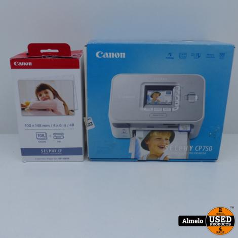 Canon selphy CP750 met 100 Foto's en ink er voor
