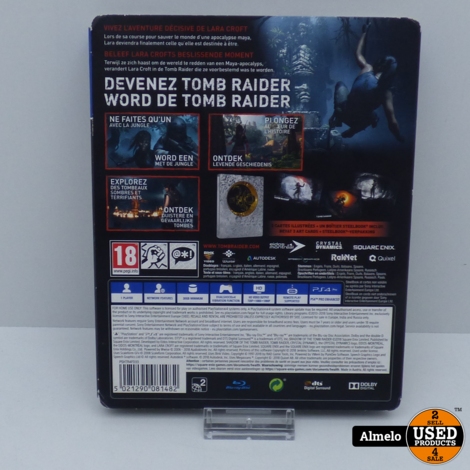 Sony Playstation 4 Shadow Of The Tomb Raider Limited Steelbook Edition