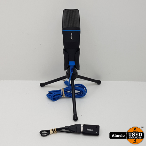 Trust Mico PC microfoon zwart blauw 20378-02