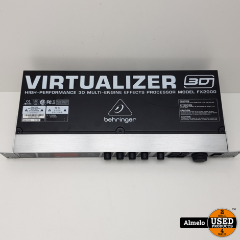 Behringer Virtualizer 3D FX2000 multi effect processor