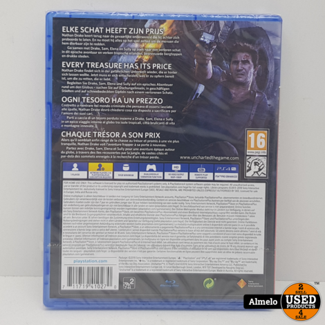 Sony Playstation 4 Uncharted 4 - A Thief's End Nieuw geseald