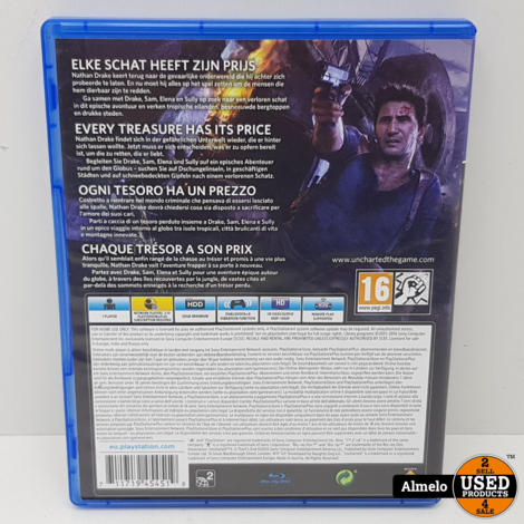 Sony Playstation 4 Uncharted 4 a Thiefs End