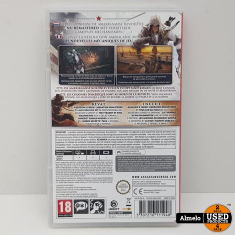 Nintendo Switch Assassin's Creed III + Assassin's Creed III-Liberation