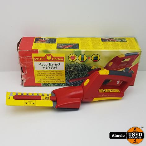 Wolf Garten Accu BS60 + 10 EM Elektrische heggenschaar