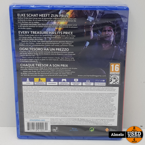 Sony Playstation 4 Uncharted a Thief's End
