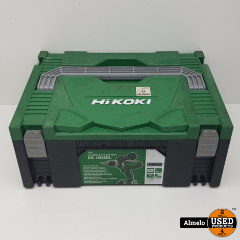 Hikoki DS 18DSDL met 2x 5.0Ah 18v accu
